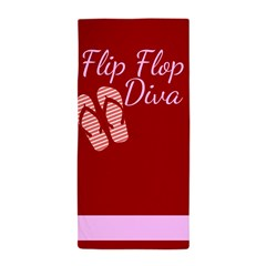 Flip flop diva beach towels.