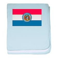 Flag of Missouri baby blanket