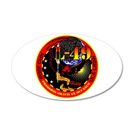 NROL 49 Launch 20x12 Oval Wall Decal