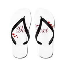 Personalizable Red Hearts Flip Flops