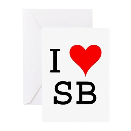 I Love SB Greeting Cards (Pk of 10)