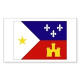 Acadian Flag Rectangle Decal