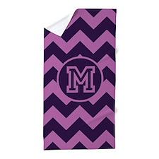Monogram Purple Phase Chevron Beach Towel