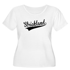 Strickland, Retro, Plus Size T-Shirt