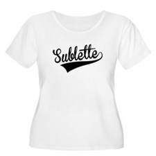 Sublette, Retro, Plus Size T-Shirt