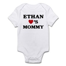 Ethan loves mommy Infant Bodysuit