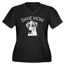 Harle UC Dane Mom Women's Plus Size V-Neck Dark T-