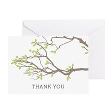 Blissful Branches Thank You Greeting Cards