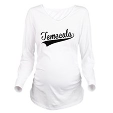 Temecula, Retro, Long Sleeve Maternity T-Shirt