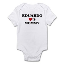 Eduardo loves mommy Infant Bodysuit