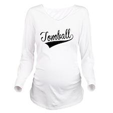Tomball, Retro, Long Sleeve Maternity T-Shirt