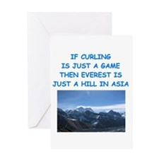 CURLING4 Greeting Cards