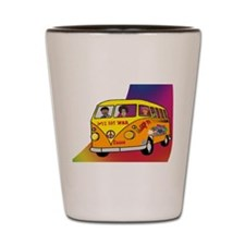 Hippies on the Road Shot Glass