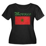 Moroccan grunge flag Women's Plus Size Scoop Neck
