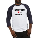 Quintin loves mommy Baseball Jersey