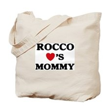 Rocco loves mommy Tote Bag