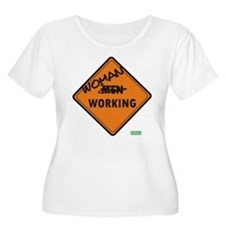 WOMEN WORKING 10X10 Plus Size T-Shirt