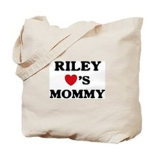 Riley loves mommy Tote Bag