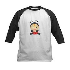 Cute Baby Girl in Ladybug Costume Baseball Jersey