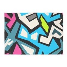 Graffiti 5'x7'Area Rug