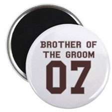 "Brother of the Groom 07 2.25"" Magnet (100 pack)"