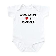 Annabel loves mommy Infant Bodysuit