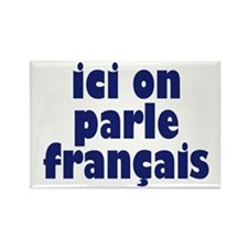 Ici on Parle Francais Rectangle Magnet