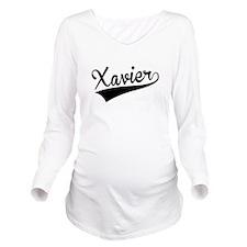 Xavier, Retro, Long Sleeve Maternity T-Shirt