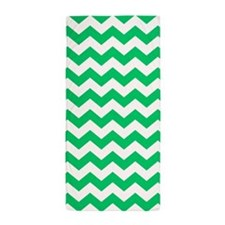Green Chevron, Beach Towel