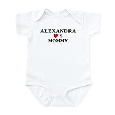 Alexandra loves mommy Infant Bodysuit