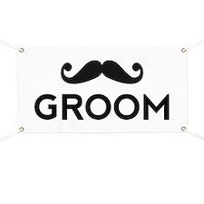 Groom mustache Banner