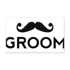 Groom mustache Rectangle Car Magnet