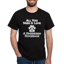 Love And A Rhodesian Ridgeback T-Shirt