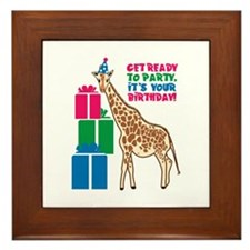 Get Ready To Party. Its Your Birthday! Framed Tile
