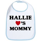 Hallie loves mommy Bib