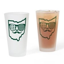 Ohio Mustache Drinking Glass