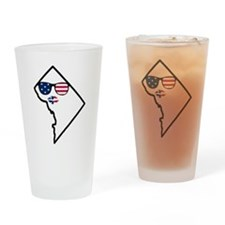 DC Stars and Stripes Lips Drinking Glass