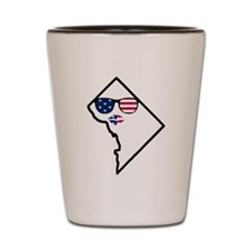 DC Stars and Stripes Lips Shot Glass