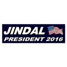Bobby Jindal President 2016 Bumper Bumper Sticker