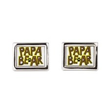 PAPA BEAR Rectangular Cufflinks