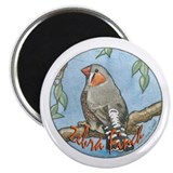 Zebra Finch Nouveau Magnet