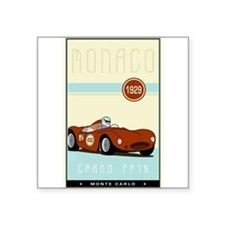 "Cute Monte carlo Square Sticker 3"" x 3"""