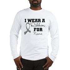 Custom Ribbon Brain Cancer Long Sleeve T-Shirt