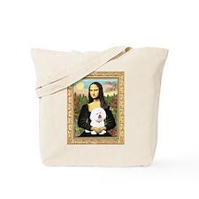 Mona Lisa (new) & Bichon Frise 1 Tote Bag