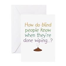 BlindWipeOnWhite Greeting Cards