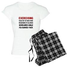 Exercising Calories Screamed Pajamas