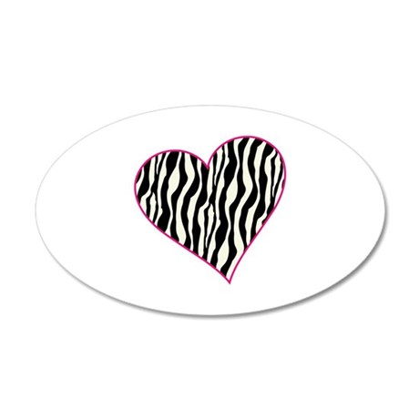 Zebra Heart Wall Decal