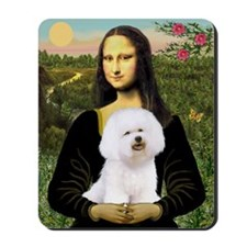 Mona Lisa (new) & Bichon Frise 1 Mousepad