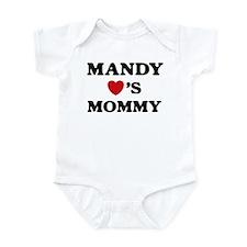 Mandy loves mommy Infant Bodysuit
