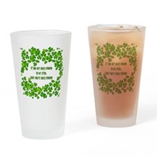 Lucky to be Irish Drinking Glass